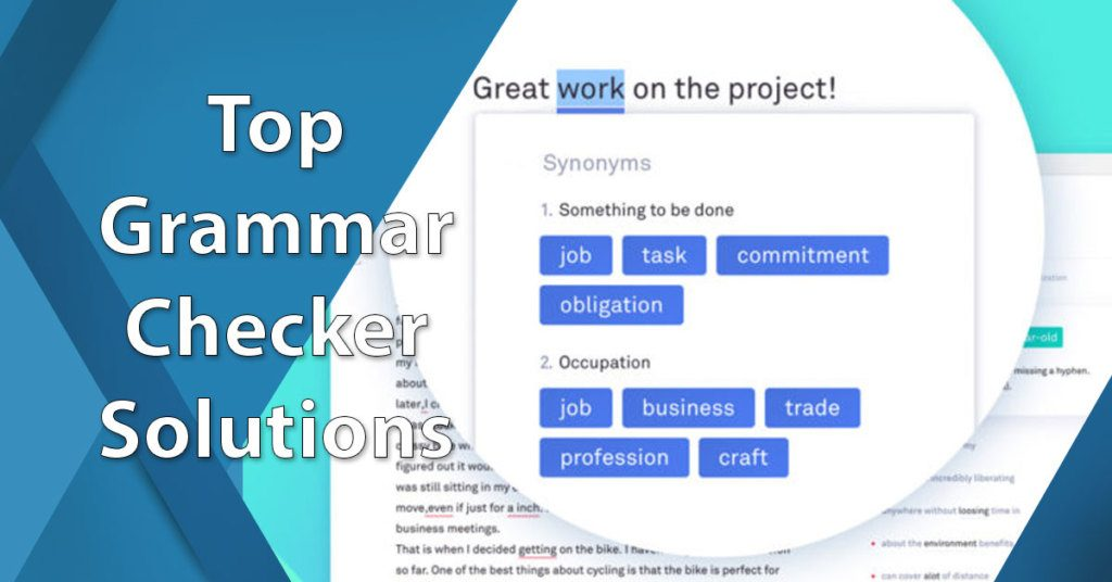 Best Grammar Checker Software Solutions For   Financesonlinecom Grammarly Top Grammar Checker Thesis Statement Argumentative Essay also How To Write Essay Papers  English Composition Essay