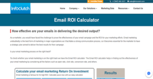 Logo of InfoClutch Email ROI Calculator