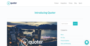 Logo of Quoter