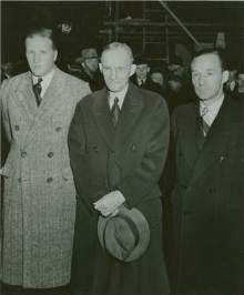 Henry Ford (center) made sure his family will have permanent control of the Ford Motor Company even after it lost money.
