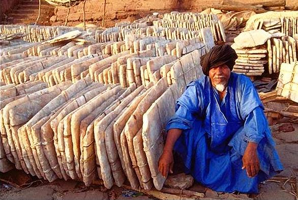 A salt merchant in Africa, where salt retains some of its old glory as an important medium of exchange.